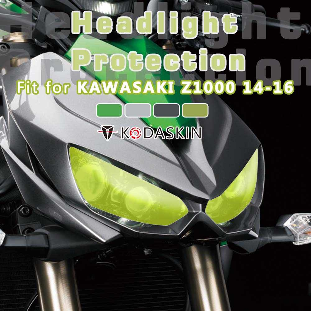 KODASKIN Motorcycle Accessories ABS Headlight Screen Protection Cover Headlight Guard Fit For KAWASAKI Z1000 2014 2015 2016