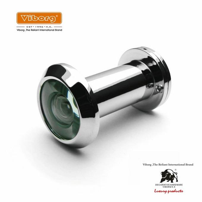 VIBORG 220 Degree Brass Wide Angle Peephole Door Viewer, Door Spyphole Viewer, EK-11-30PSS