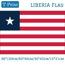 Free shipping The Republic Of Liberia National Flag 3x5ft Banner Polyester 30*45cm Car Flag 90*150cm/60*90cm/15*21cm history of liberia