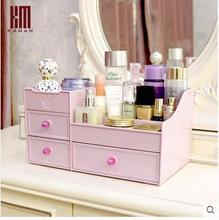 Kaman draw-out type cosmetics receive a box of large creative skin desktop plastic bin lipstick
