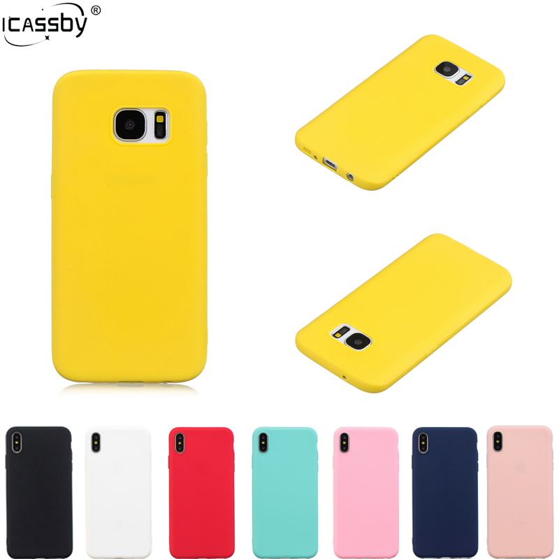Rubber Silicone TPU Case For Samsung Galaxy S7 Case Edge Samsung S7 Case Candy Color Soft TPU Back Cover Galaxy S7 Edge Coque image