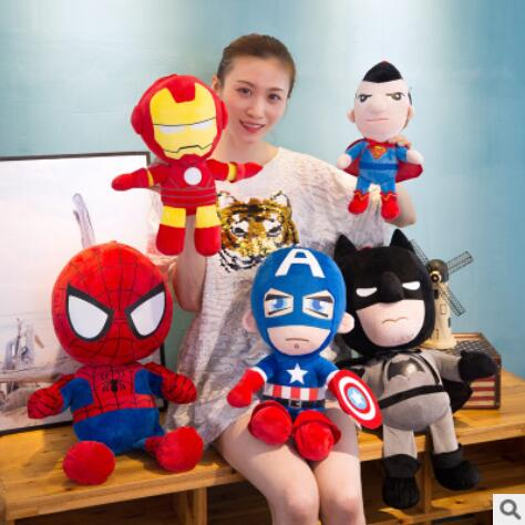 30 cm Super Soft Toy Her Hero Toys The Avengers Movie Captain American Iron Man Spider-Man Dolls For Children Present Birthday P
