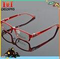 Red cor desenho TR90 suaves óculos para crianças óculos de armação miopia / óculos ambliopia DD0791