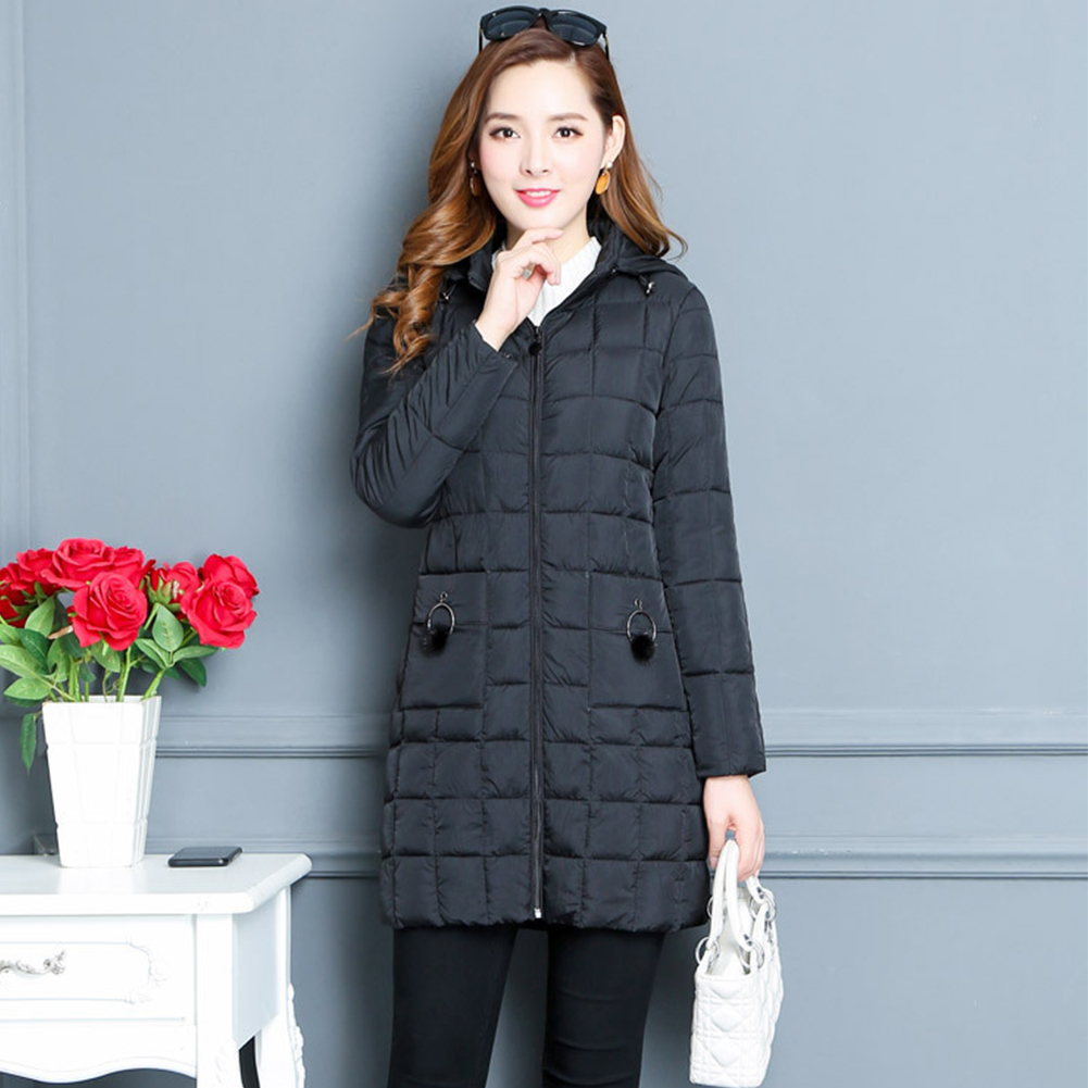 2018 Female   Parka   Winter Causal Cotton Outerwear Slim Hooded Overcoat For Ladies Causal Winter Women   Parka   Female Plus Size Coat