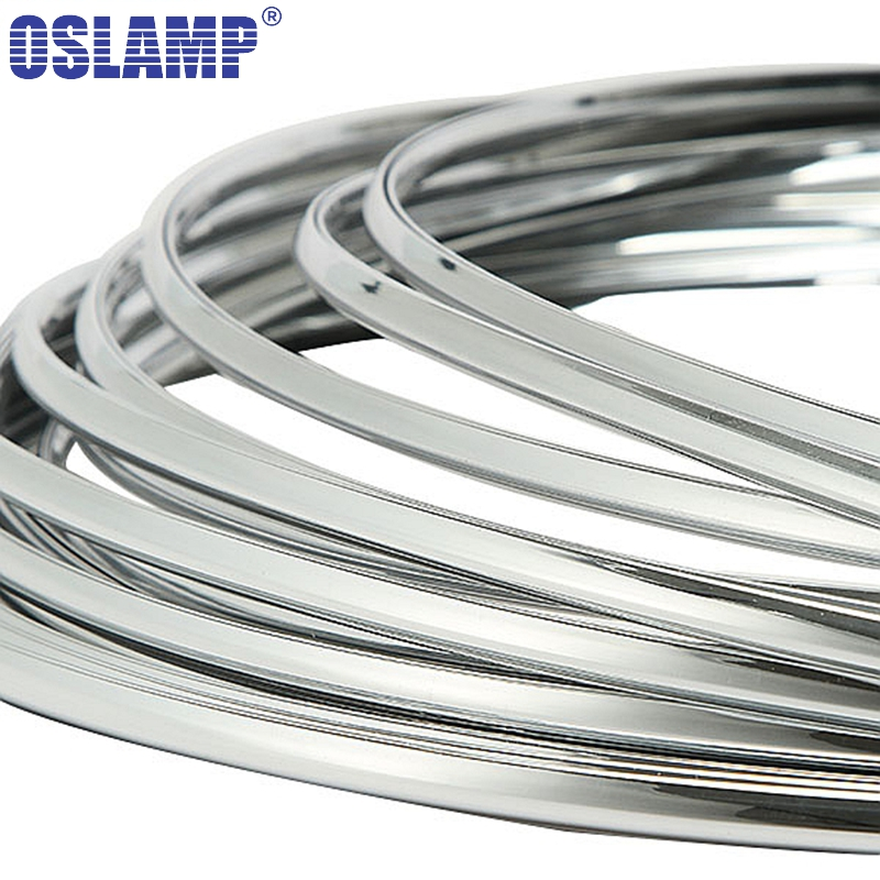 Oslamp 3 Meters Chrome Trim Car Styling Grill Strips Molding Decoration Bumper Impact Adhesive Grille Protection Strip Scratch-in Styling Mouldings from Automobiles & Motorcycles