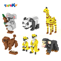 Животных Серии Diomand Строительные Блоки Пудель, Сурикат, Panda, Жираф Алмаз Блок Развивающие Игрушки