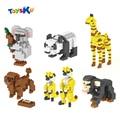 Animal Series Diomand Building Blocks Poodle,Meerkat,Panda,Giraffe Diamond Block Educational Toys