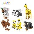 Blocos de Construção Série Animal Diomand Poodle, Meerkat, Panda, Girafa Diamante Bloco Brinquedos Educativos