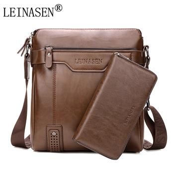 цена на LEINASEN Brand  casual Men Messenger Bags Crossbody Bags Men's Shoulder Bag Hot Selling High Quality pu business Briefcase