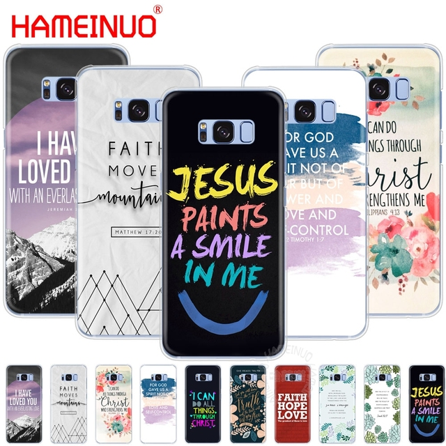 1ea55291b christian inspiration bible quotes verse jesus cell phone case cover for  Samsung Galaxy S9 S7 edge PLUS S8 S6 S5 S4 S3 MINI