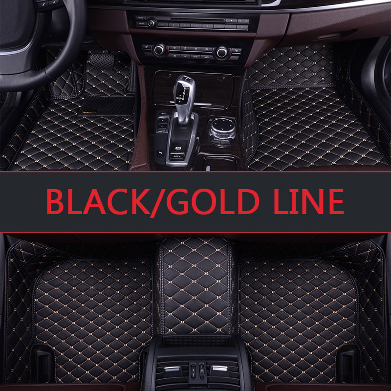 Car floor mats for Audi A1 A3 A4 A6 A7 A8 Q3 Q5 Q7 S3 S5 S6 S7 S8 TT TTS R8 3D car styling A single layer leather carpet floor