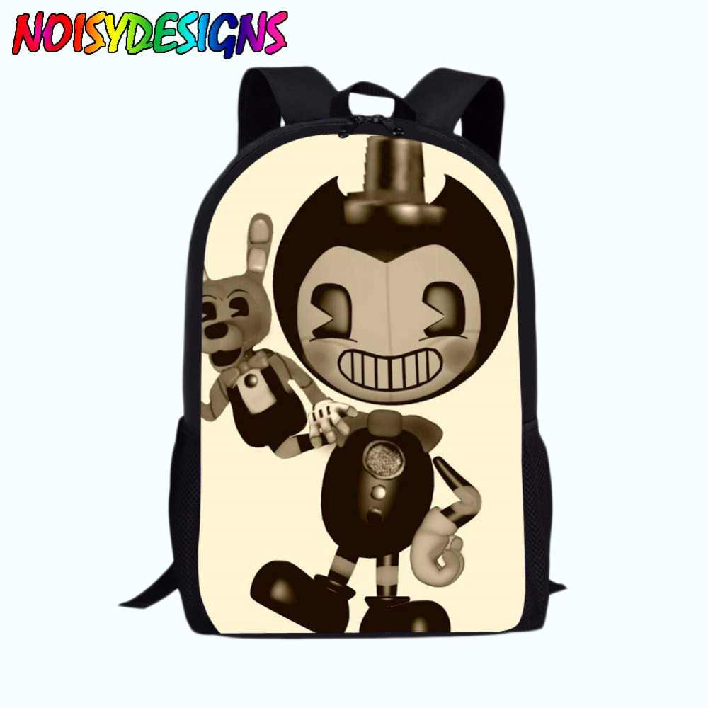 fe185523bf Detail Feedback Questions about School Bag for Kids Boy Girls Backpack  Bendy and The Ink Machine Female Schoolbag School Supplies Satchel Casual  Book Bag on ...