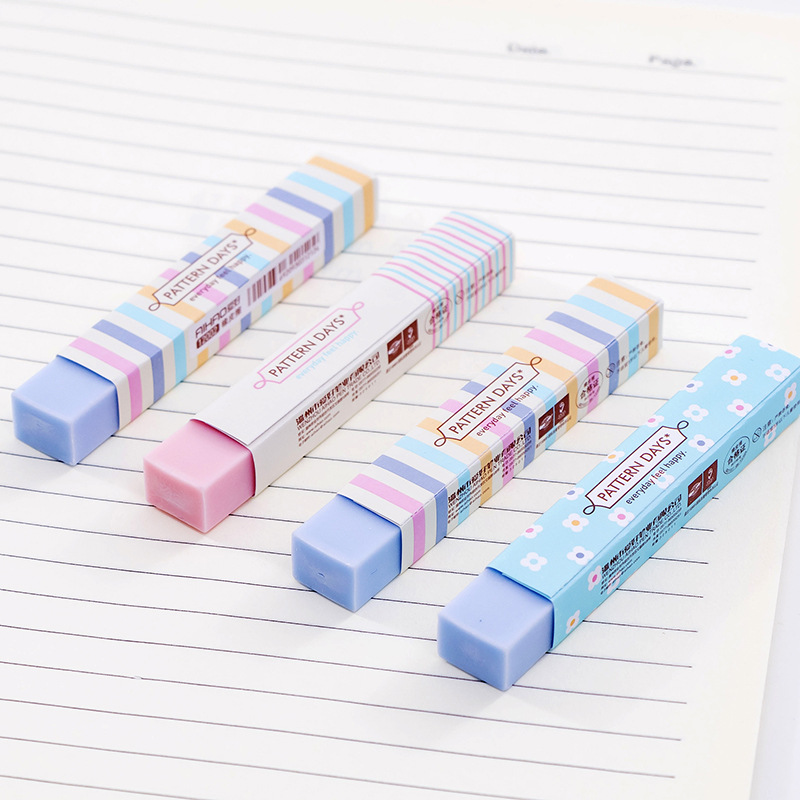 1 PCs Confectionery Color Small Fresh Broken Flowers Strip Eraser Student Stationery Wholesale
