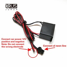 JURUS автомобильный 12 В инвертор/12 В сигаретный светильник er инвертор/5 В USB Инвертор для 1-5 м EL провод веревка трубка гибкий неоновый светильник