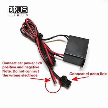 цена на JURUS Car 12V Inverter / 12V Cigarette Lighter Inverter/5V USB Inverter For 1-5M EL Wire Rope Tube Flexible Neon Light Line Lamp