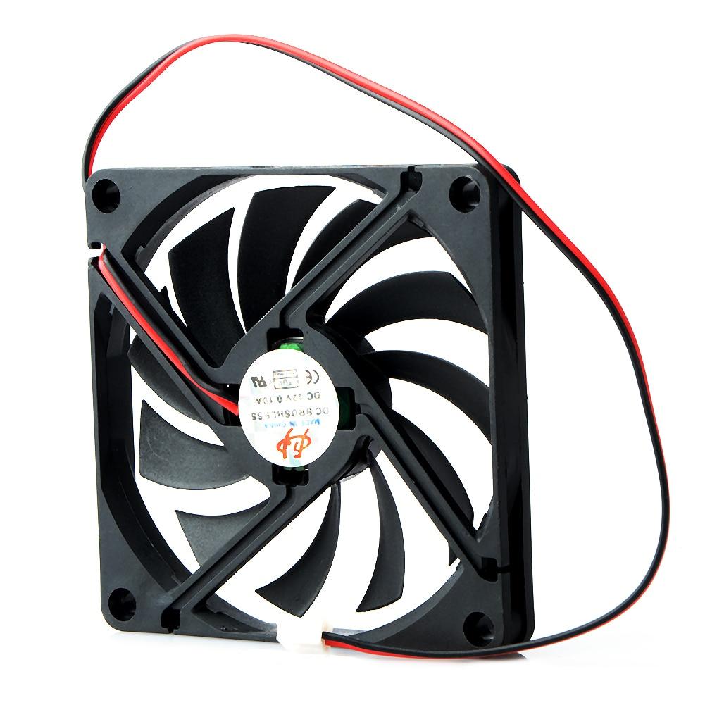 1 шт. 80 мм 2 контакт DC 12Volt 2P разъем охлаждение вентилятор +для компьютера корпуса CPU Cooler Radiato 8010 DC Axial Flow Cooling Cooler Fan