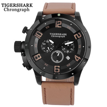 цена Mens Watches Top Brand Luxury Quartz Sport Watch Men Waterproof Chronograph Complete Calendar Leather Strap Wristwatch New 2019 онлайн в 2017 году
