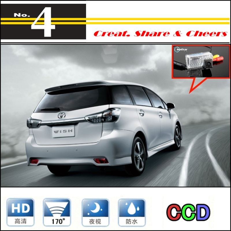 Car Camera For TOYOTA Wish High Quality Rear View Wanterproof Back Up Camera For PAL / NTSC To Car Tuning   CCD + RCA Standard