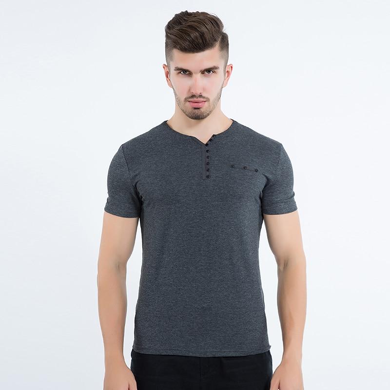 Liseaven Mens T Shirt Slim Fit Crew- ի պարանոցի - Տղամարդկանց հագուստ - Լուսանկար 2
