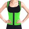 Neoprene Waist Trainers Men And Women Sweat Zipper Waist Cincher Vest Corsets Strap Body Shaper Slimming Trainer