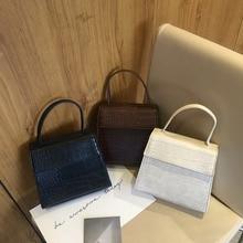 f168a5dc5 جديد Scarve النساء حقيبة يد بو الجلود أسود أبيض براون صغيرة رفرف كروسبودي  حقيبة محفظة feminina