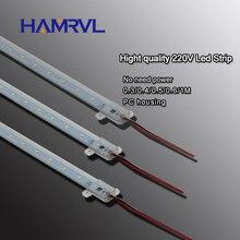 10 pièces ca 220v LED bande rigide sans conducteur pour T5 T8 Tube, 5w 6w 8w 10w SMD 5730 2835 led pcb barre lumineuse pas besoin de puissance blanc