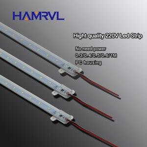 Image 1 - 10 pièces ca 220v LED bande rigide sans conducteur pour T5 T8 Tube, 5w 6w 8w 10w SMD 5730 2835 led pcb barre lumineuse pas besoin de puissance blanc