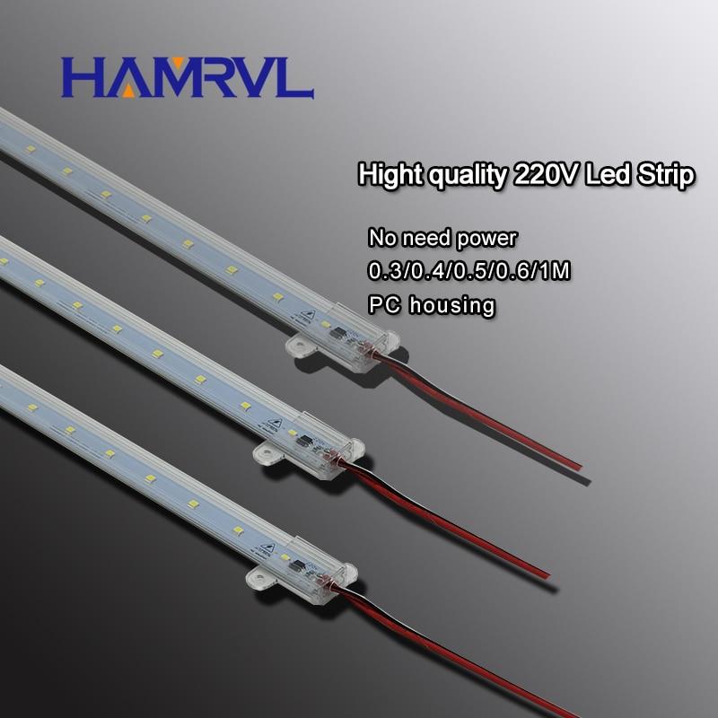 10pcs  Ac 220v LED Rigid Strip Driverless For T5 T8 Tube, 5w 6w 8w 10w  SMD 5730 2835 Led Pcb Bar Light No Need Power White