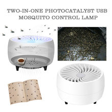 USB electrónica Mosquito Killer Trap Moth Fly Wasp LED lámpara de luz de noche Bug insectos luces mata repelente de plagas dispositivo 5pz(China)