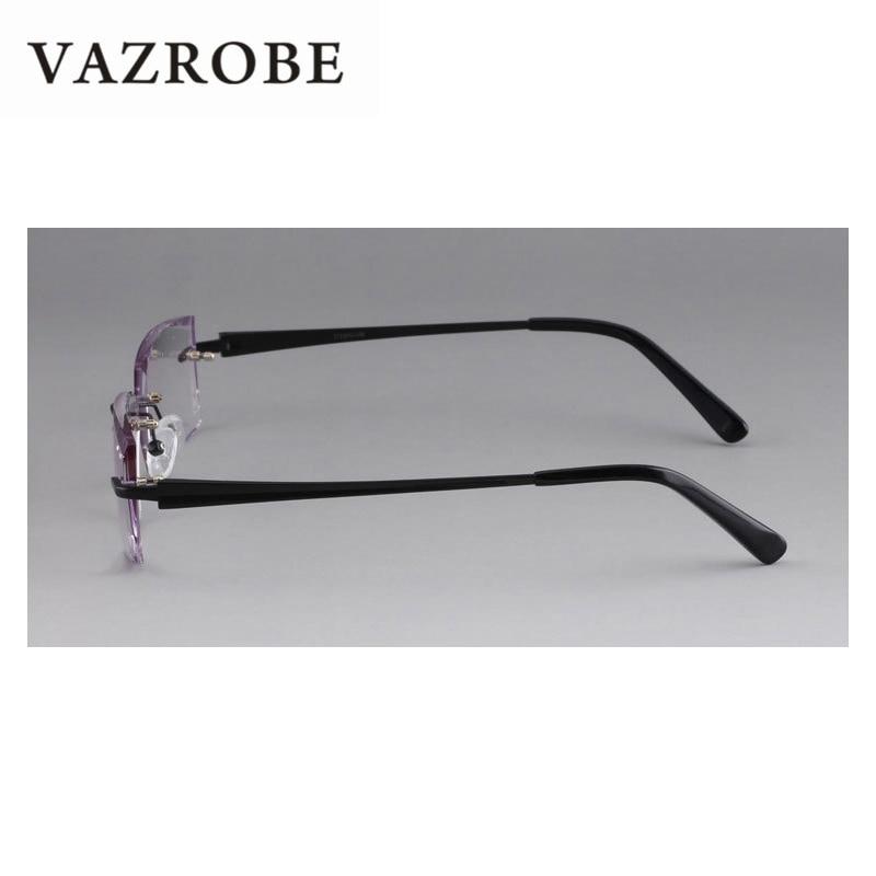 375b6d7a0b Vazrobe Titanium Glasses Men Rimless Eyeglasses Frames for Man Diopter  Prescription with Gradient Resin Lens(no Power) Male