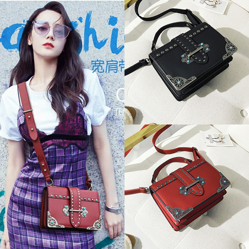 Female Brand Hand Bag Woman Messenger Bags Lady Rivet Chain Women Fashion Leather Shoulder Bag Girl Crossbody Bags Handbags Cloe