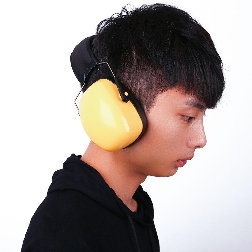 Анти-шумоизоляция Защита слуха защитные наушники ушной муфты защитник безопасности бируши для работы защита ушей - Цвет: yellow