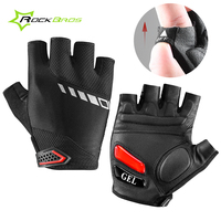 Rockbros Women Men Half Finger Cycling Gloves GEL SBR Padded MTB Mountain Road Bike Gloves Breathable