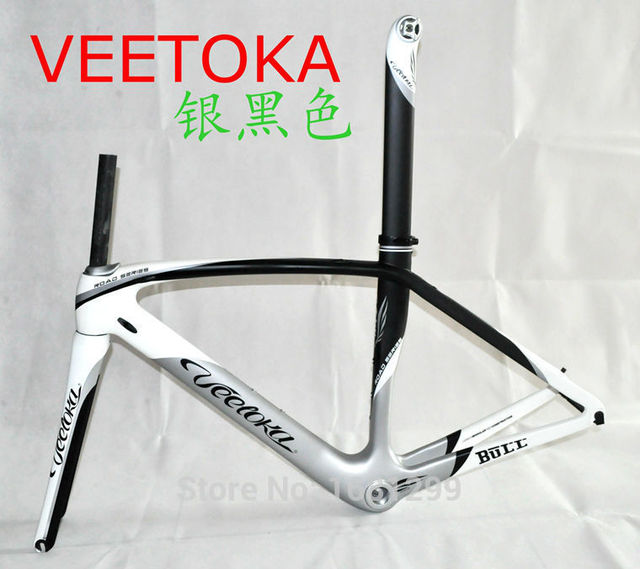Cheap 2015 Newest 4 colors VEETOKA 700C Road bicycle full carbon fibre bike frame with carbon fork seatpost seat clamp headsets