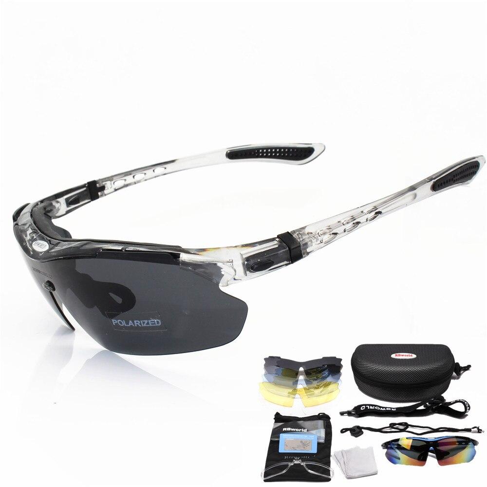 Prix pour Professionnel Polarisé Vélo Lunettes de Vélo Lunettes Sports de Plein Air Vélo lunettes de Soleil UV 400 Avec 5 Lentille TR90