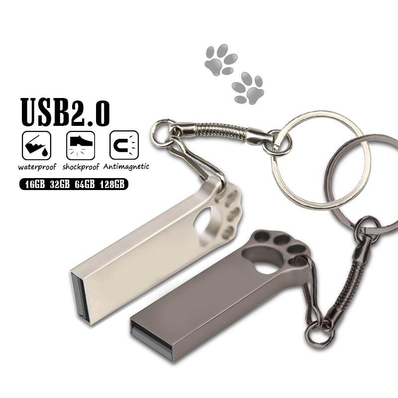 Top Quality Metal Cat Claw Photo Usb Flash Drive 32gb Memory Stick 128gb High Speed 64gb Usb 2.0 Pen Drive For Smartphone