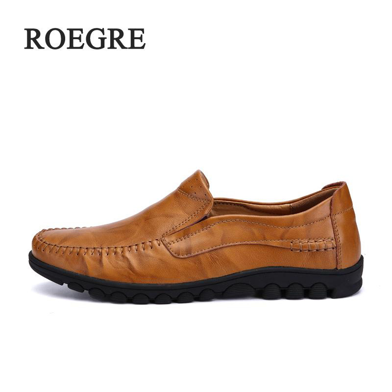 ROEGRE Big Size High Quality Men Leather Shoes Fashion Casual Shoes Mens Luxury Brand Designer Men Leather Shoes Man Flats grimentin fashion 2016 high top braid men casual shoes genuine leather designer luxury brand men shoe flats for leisure business