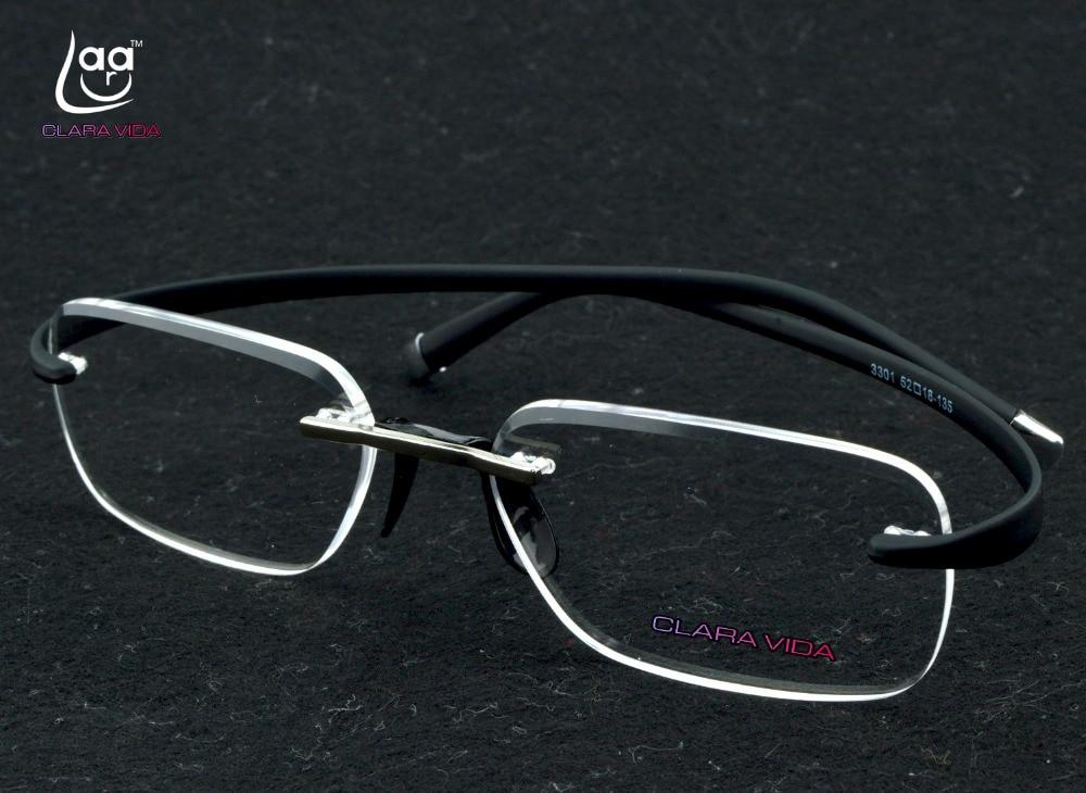4b9150f965 Online Shop TR90 Rimless high class business Ultralight Frame Spectacles  Custom Made prescription lens myopia glasses Photochromic -1 to -6