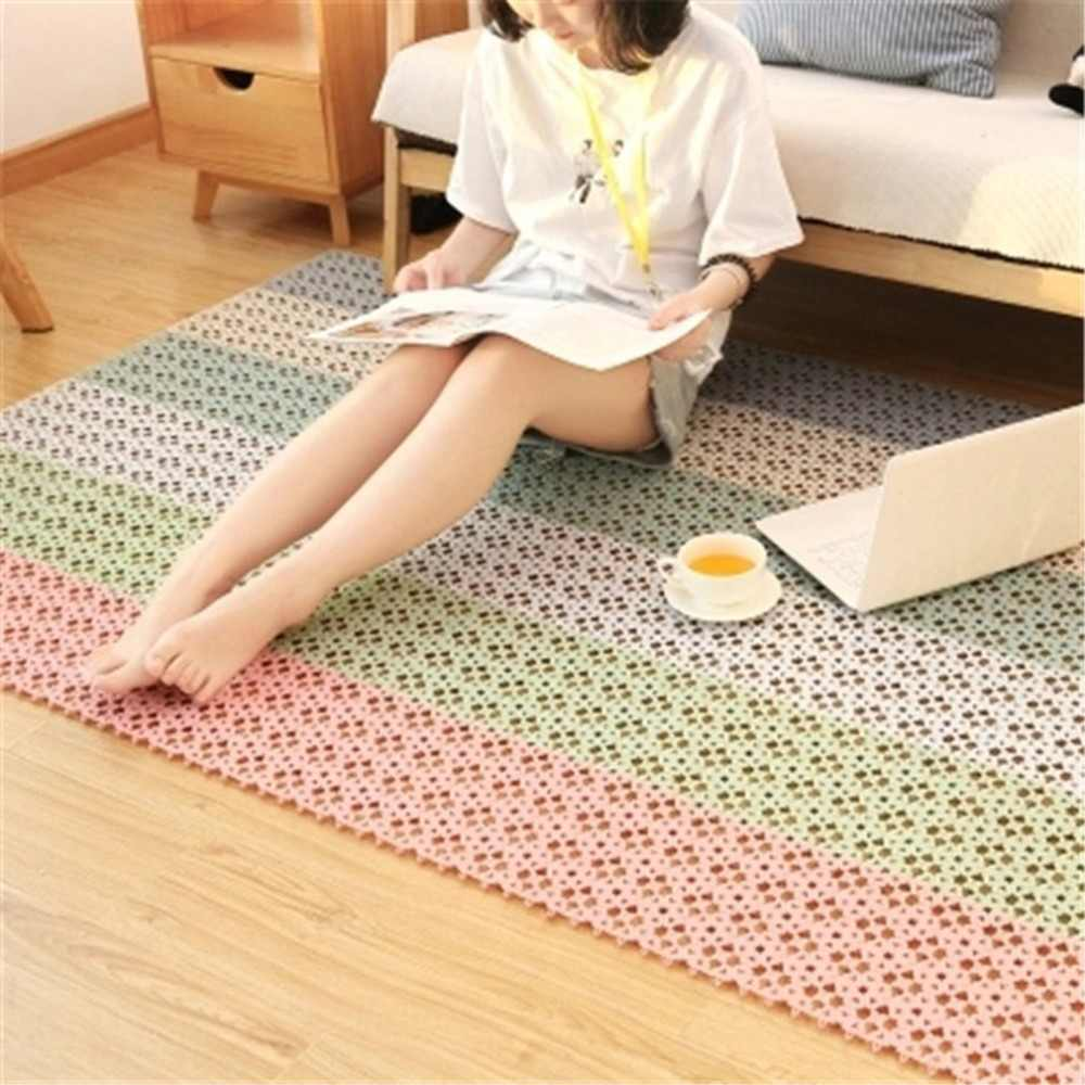 Non-slip Waterproof Drain Massage pads Bright Color Love Design Free Stitching Bathroom Mat Shower Mats Bathroom supplies