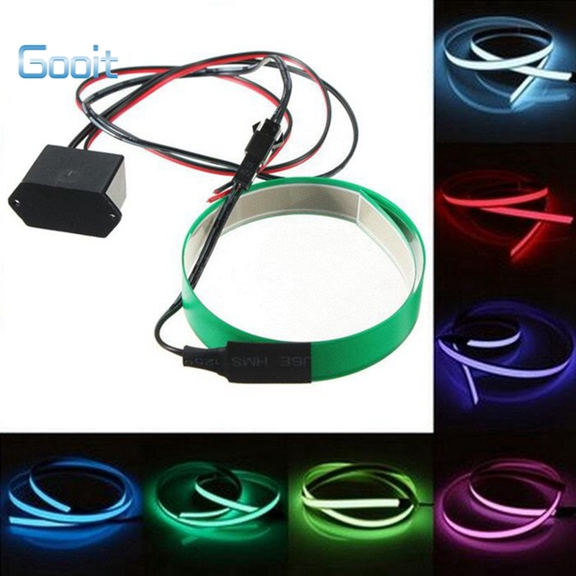 Electro luminescent Tape Glowing 0.6M Led EL Wire LED Rope Flat ...