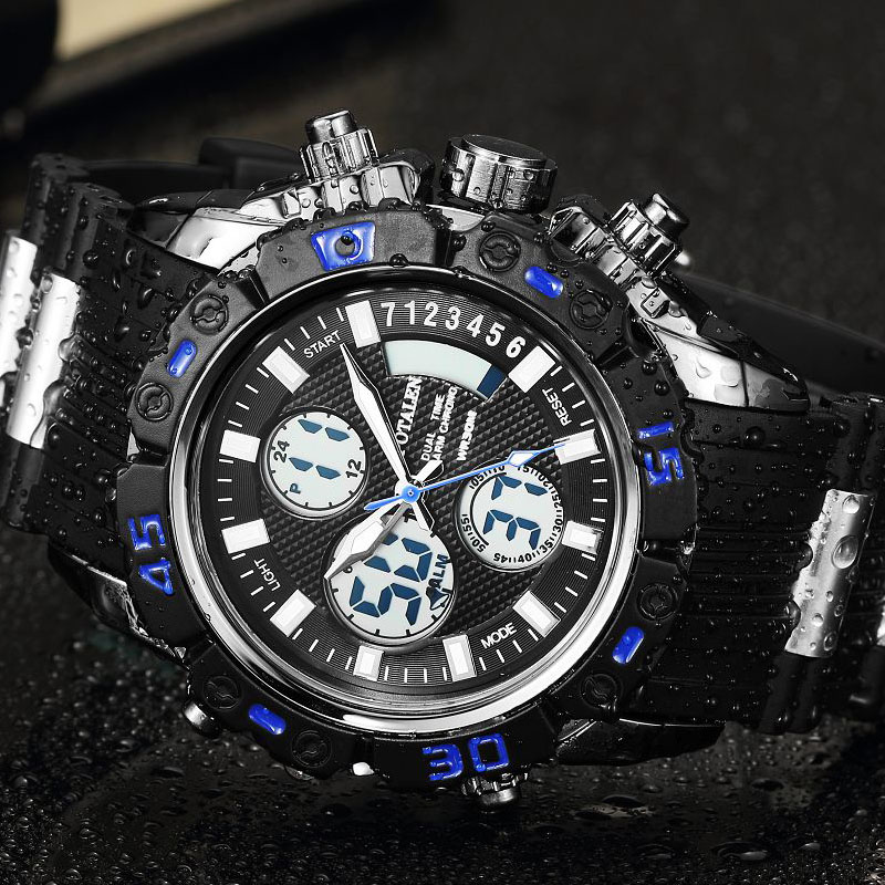 Men&#8217;s Watches Sport Military Male Watches For Men Brand Digital Watch Gear Multi-function <font><b>LED</b></font> Display Wristwatch montre <font><b>xfcs</b></font>