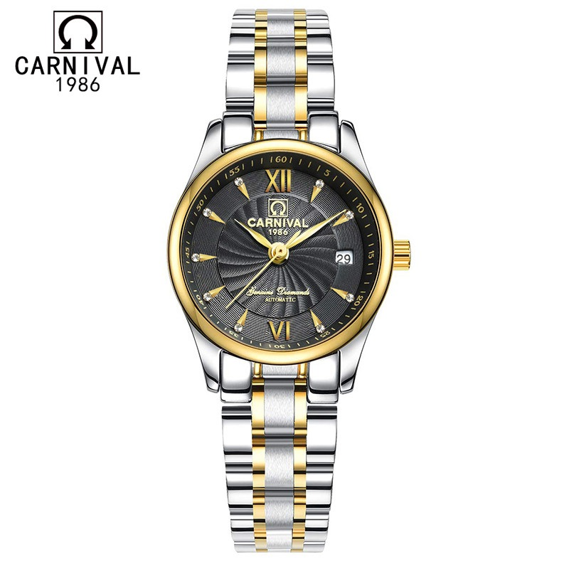 Gifts for women Original brand CARNIVAL Fashion automatic watch women High end women watches with Calendar sapphire WaterproofGifts for women Original brand CARNIVAL Fashion automatic watch women High end women watches with Calendar sapphire Waterproof