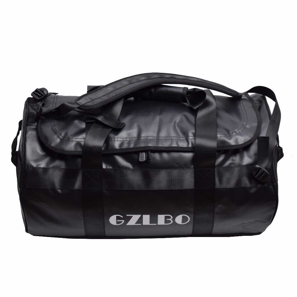 GZLBO 65L Popular PVC waterproof bag black travel bag Waterproof duffel bag waterpro pvc dry bag travel bag diving equipment bag 80l marble black