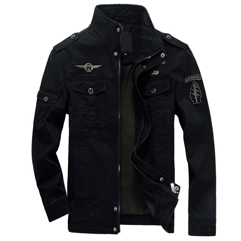 6XL Men Jacket Jeans Military Army Soldier Cotton Air Force One Male Brand Clothing Spring Autumn Mens Bomber Jackets