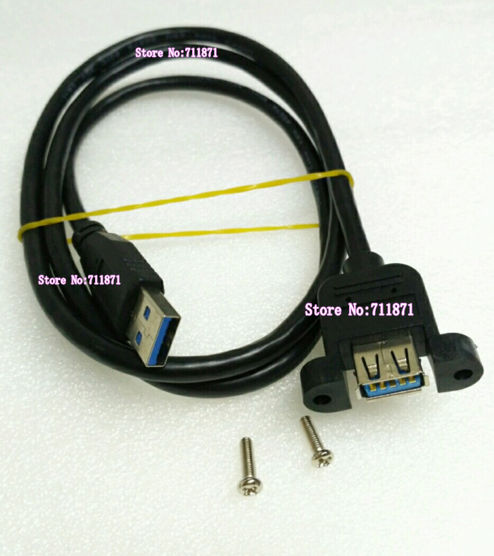 Computer & Office Black 100cm 1m Screws Hole Fixed Usb3.0 Usb 3.0 Extension Cable Ears Fixed Usb30 Usb3 Usb3.0 Lengthen Extend Cable Line Wire