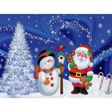 5D DIY Diamond Painting Full Square Christmas Santa Claus Snowman Diamant Cross Stitch Xmas Decoration For Home