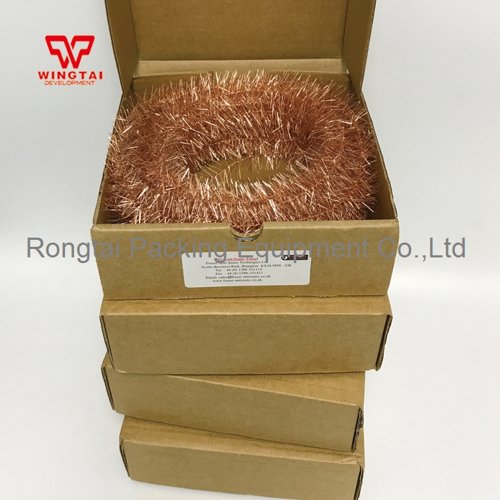 England FRASER 801 Copper Antistatic Tinsel For Fabric or Strip Application 22m per Box 22m box uk fraser 801 copper anti static tinsel for neutralising sheets