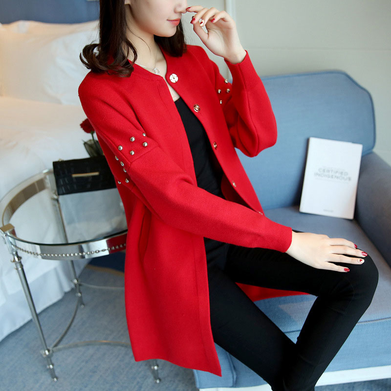 Long Cardigan Women 2018 Spring Knitted Outwear With Long Sleeve New Arrival Fashion Oversized Ladies Sweaters Jacket Elegant