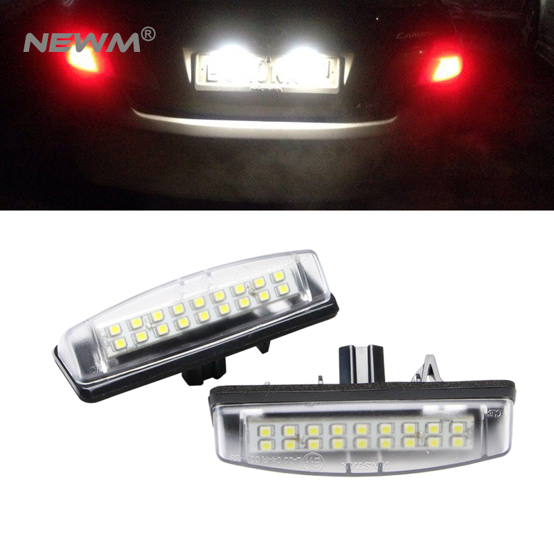 2Pcs/Set LED Number License Plate Lights For Toyota Camry/Aurion Avensis Verso Echo Prius Free Shipping ormino fpv quadcopter frame kit tarot 300 mini drone frame rc racing frame quadcopter fpv drone glass carbon fiber frame