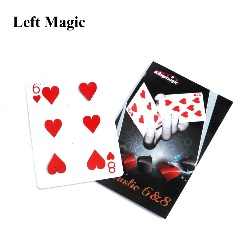 Fantastic 6 To 8 Moving Point Card For Magician Gimmick Close Up Magic Tricks Card For Professional Magician Magic C2024